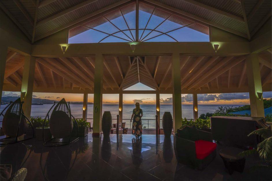 Sunset in St. Lucia on Honeymoon