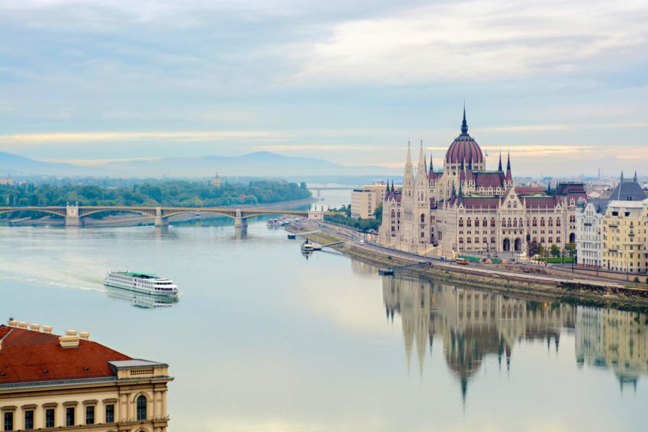 The view of Budapest and the Danube River