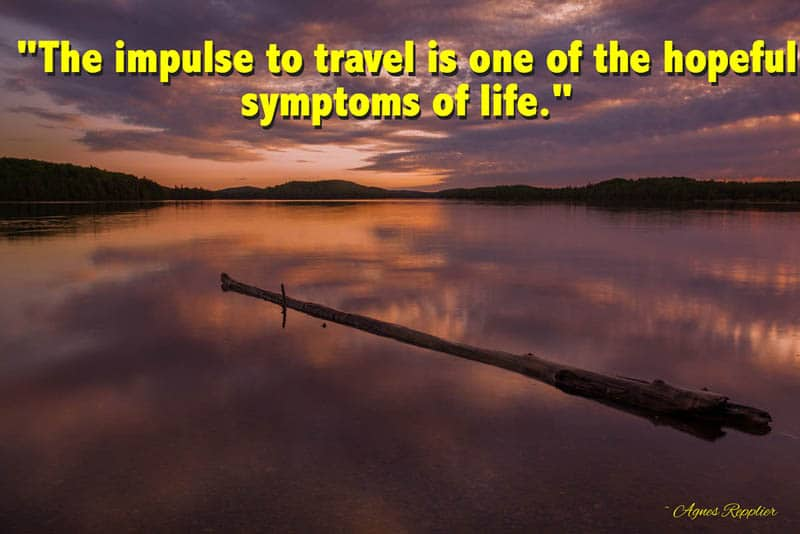 meaningful quotes | the impulse to travel is one of the hopeful symptoms of life