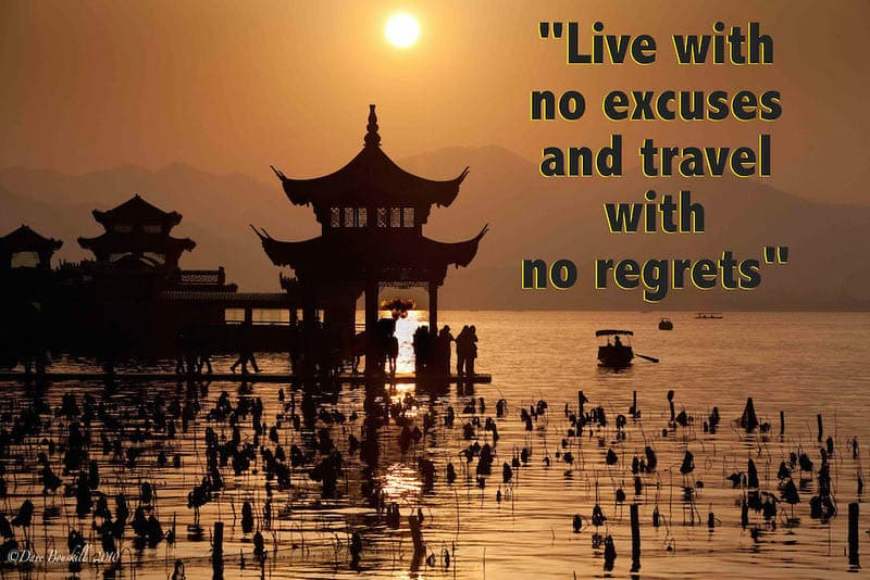 best travel quotes living with no regrets