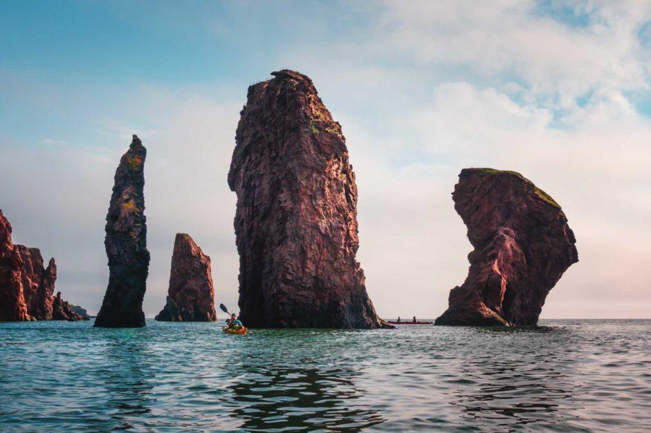 Kayaking the Three Sisters in Nova Scotia
