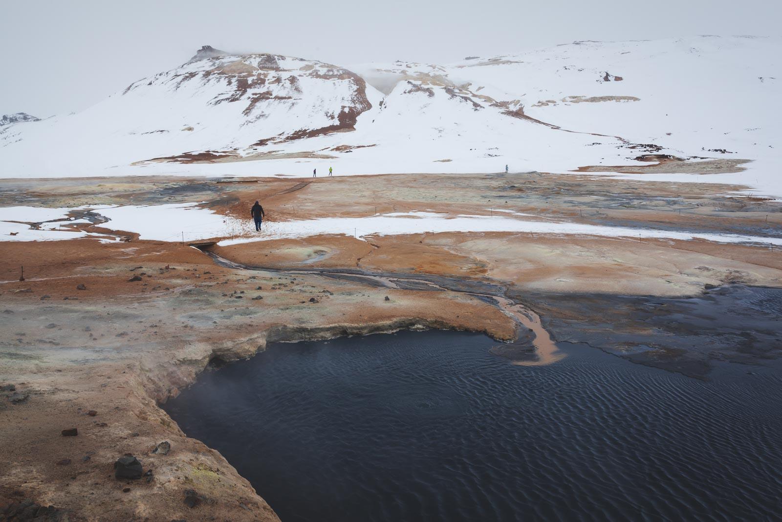 Myvatn Nature Baths in Iceland winter