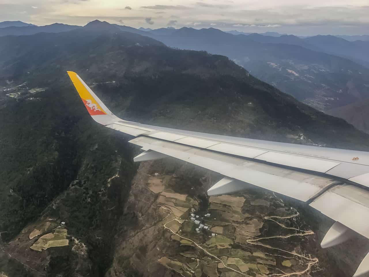 Flying int Paro to start our Bhutan Trek to Laya