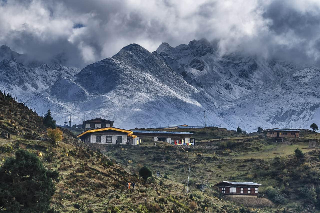 Entering Laya on our Bhutan Trek