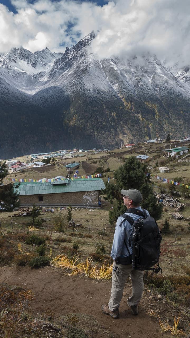 bhutan trek in laya view