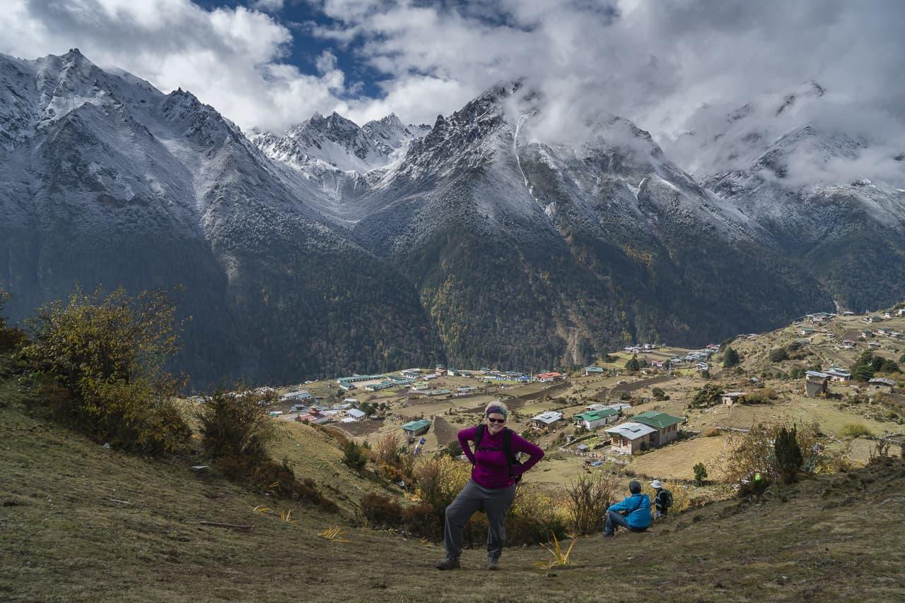 bhutan trek hiking at altitude