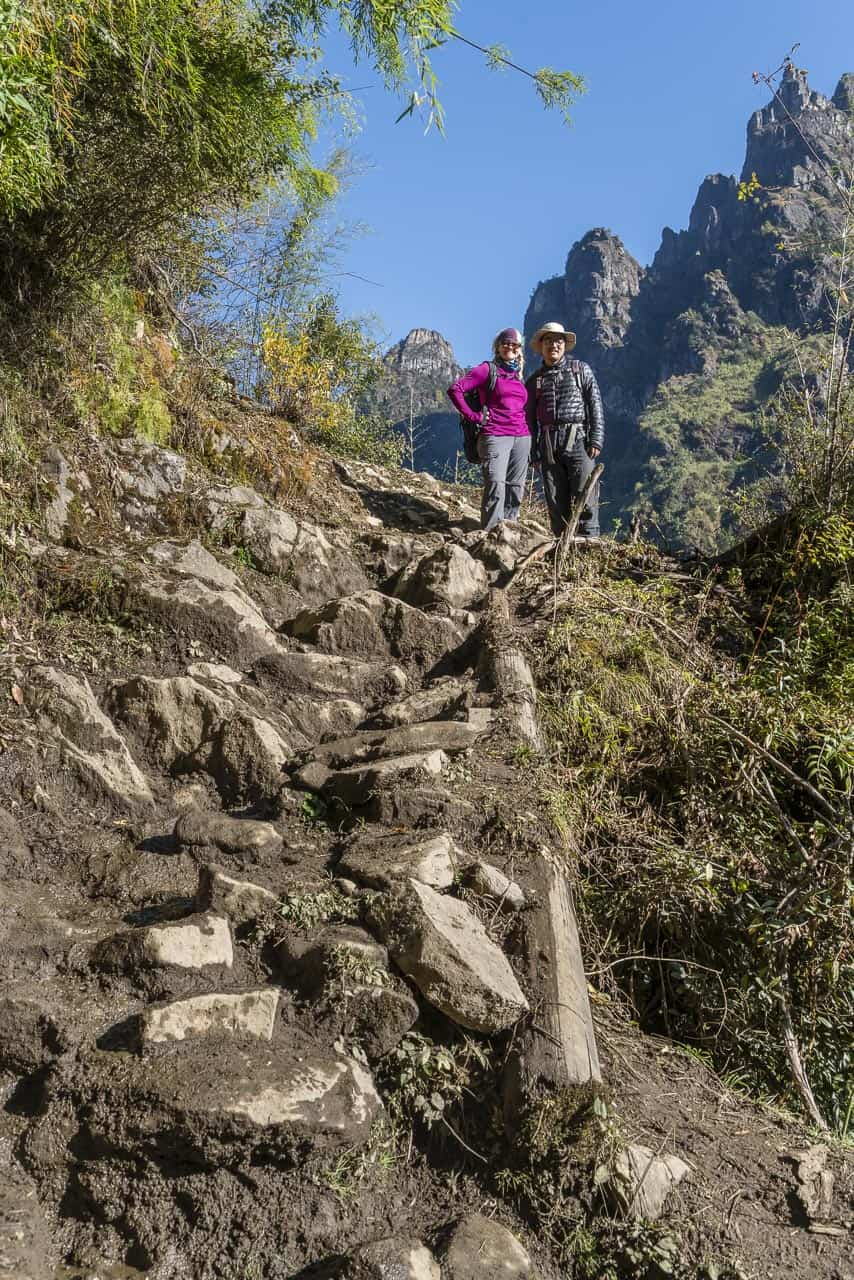 bhutan trek over