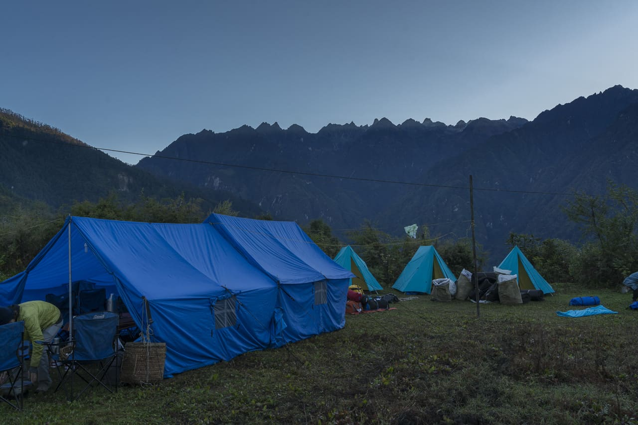 Our first campsite on our Bhutan Trek