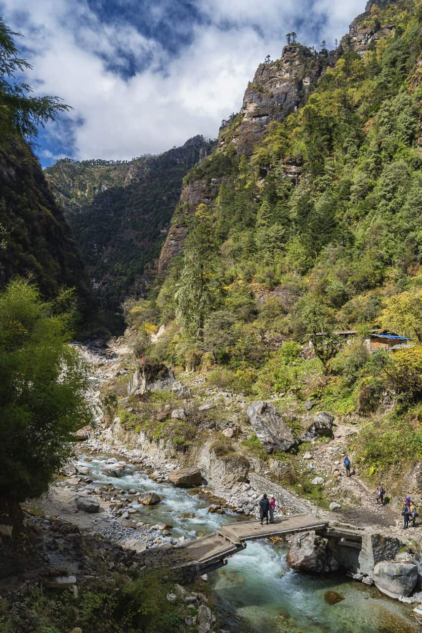 The start of our Bhutan trek to Laya