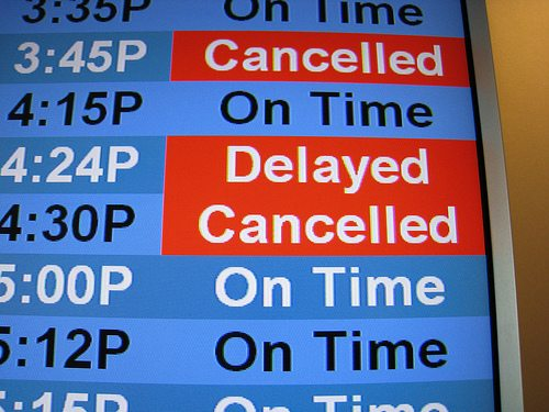 cancelled flight of around the world adventure