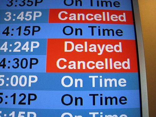 cancelled flight of around the world adventure
