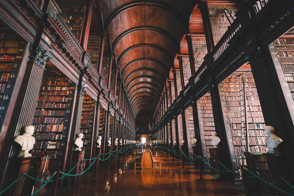 Old Library at Trinity College in Dubline - The Best Books About Traveling to Inspire your Wanderlust
