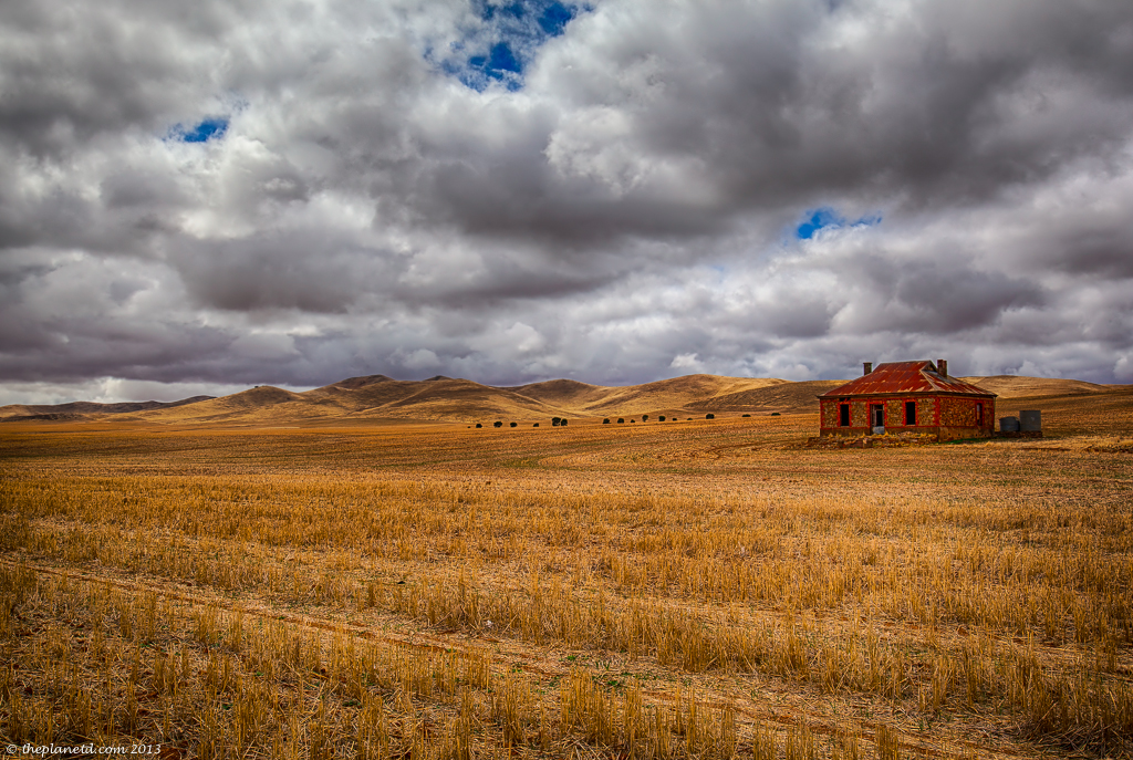 The Burra Homestead in South Australia. A Midnight Oil Album cover