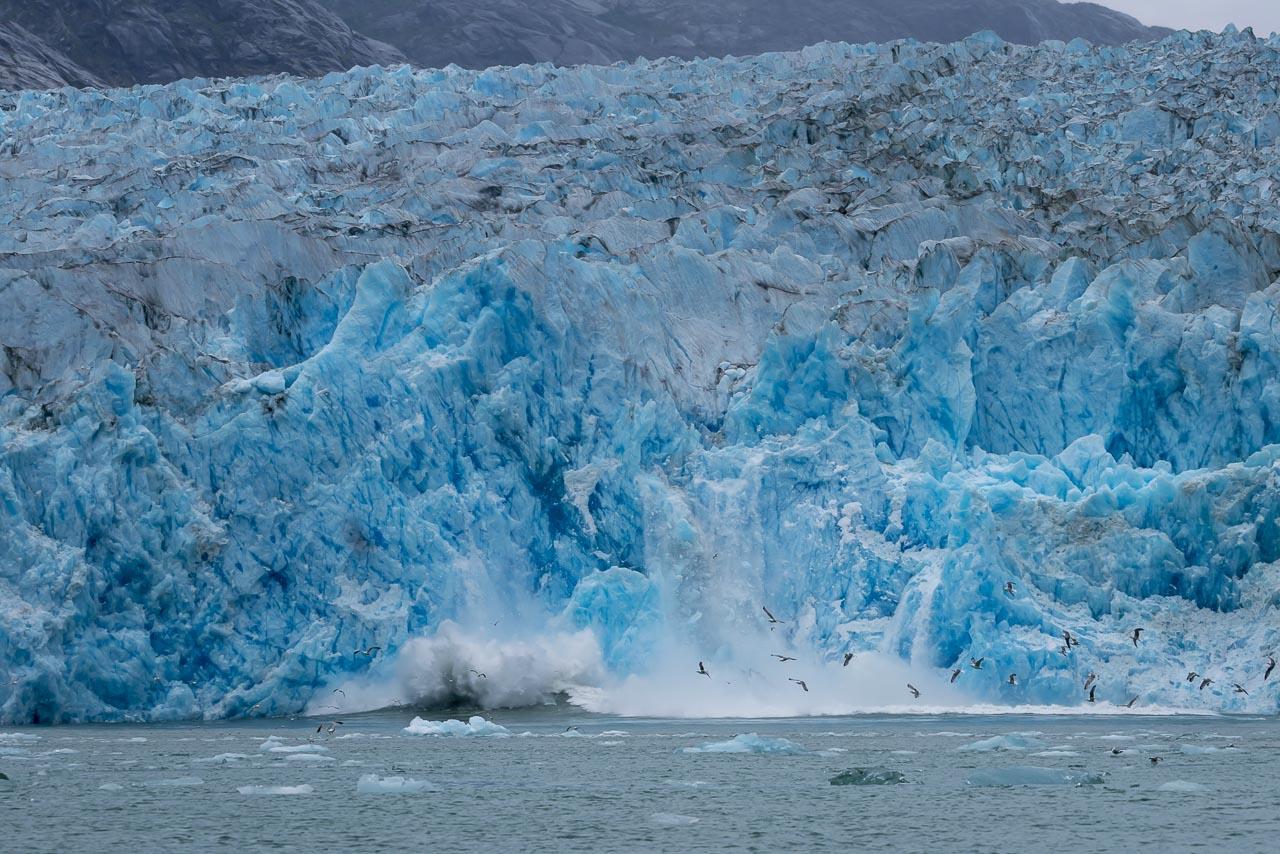 A Calving Glacier in alaska