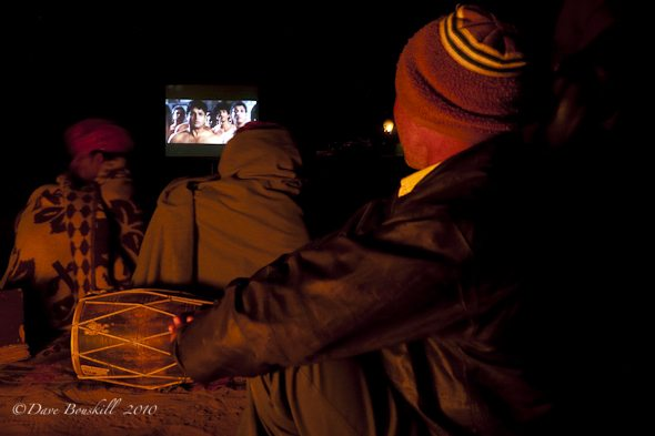 Movie in the Desert of Rajasthan, India