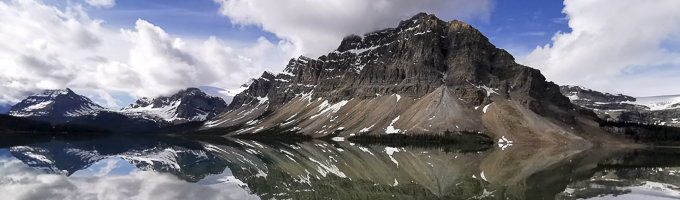 Canada Trave in Bow Lake, Alberta
