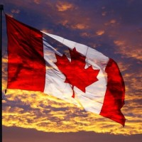 Canada-Flag-Sunset