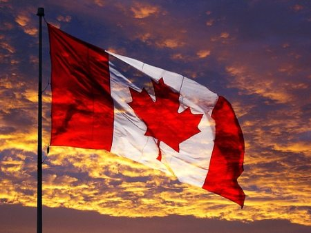 Canada-Flag-Sunset