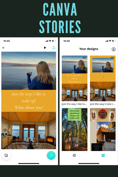 free photo editor Canva Stories