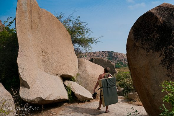 rock climbing hampi