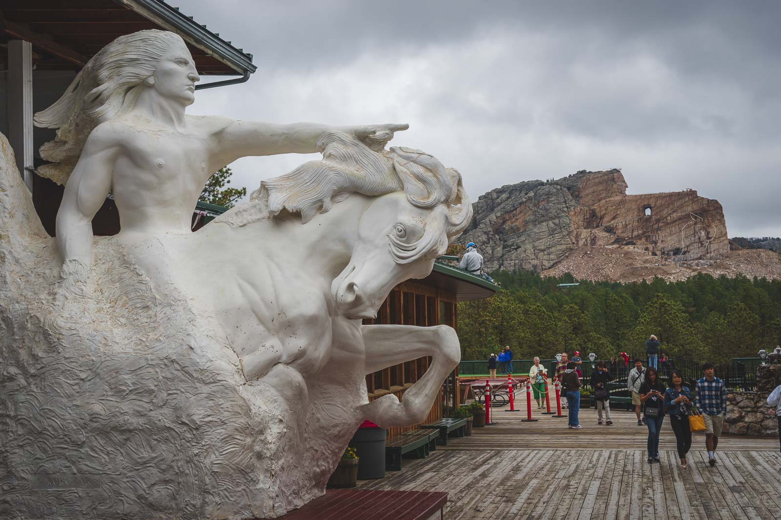 rendition of finished sculputure of crazy horse memoria