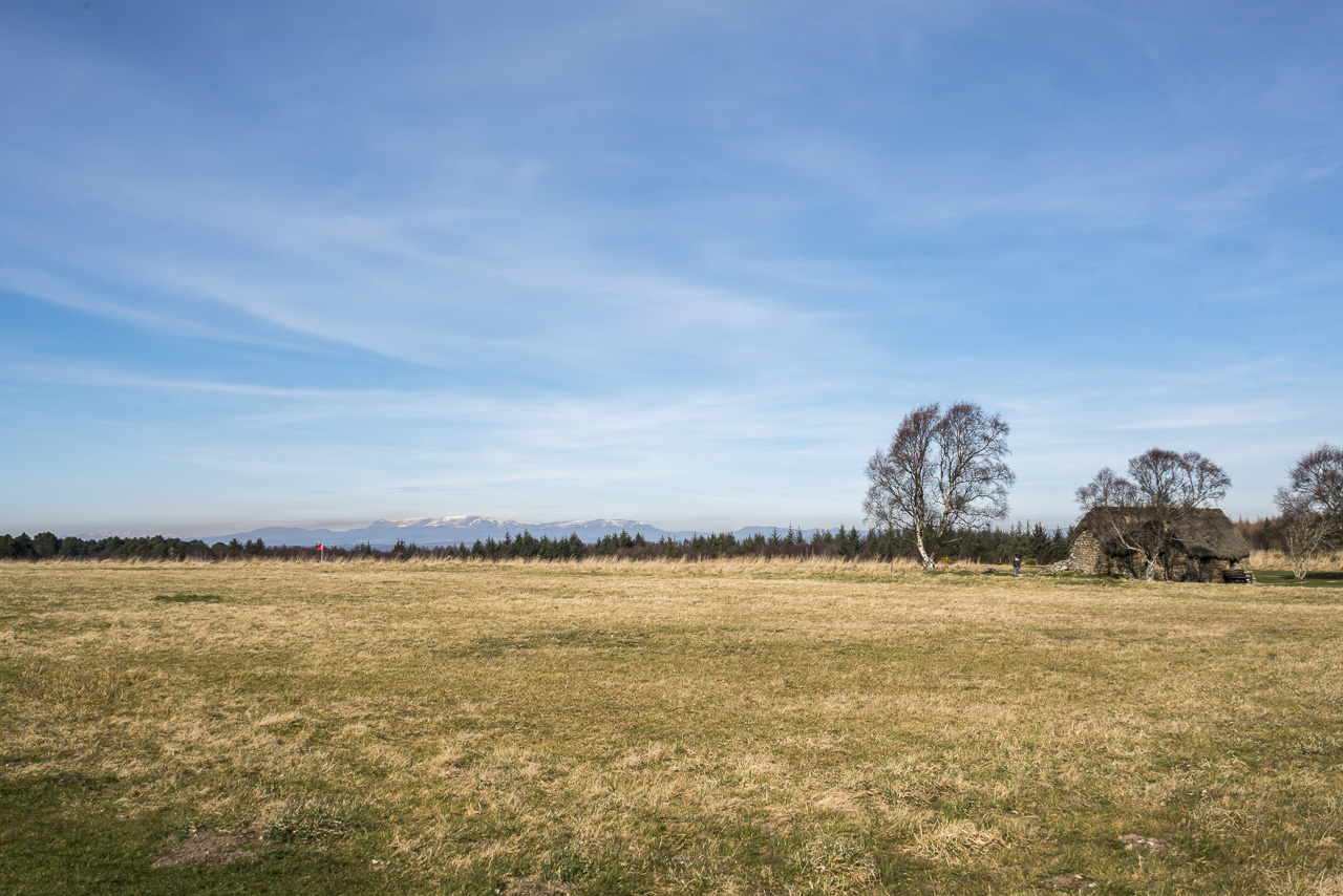 Looking out over the Culloden Battlefield in Scotland