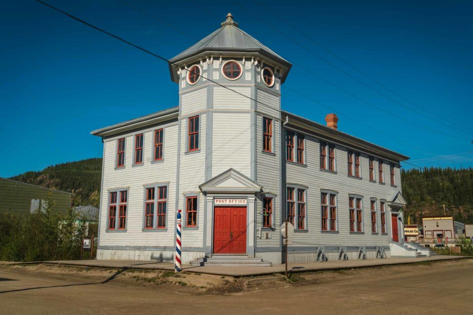 heritage buildings of Dawson City Yukon
