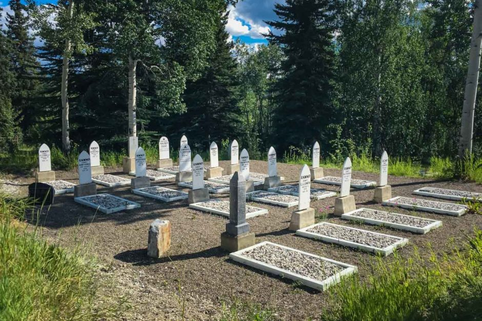 cemetery above dawson city