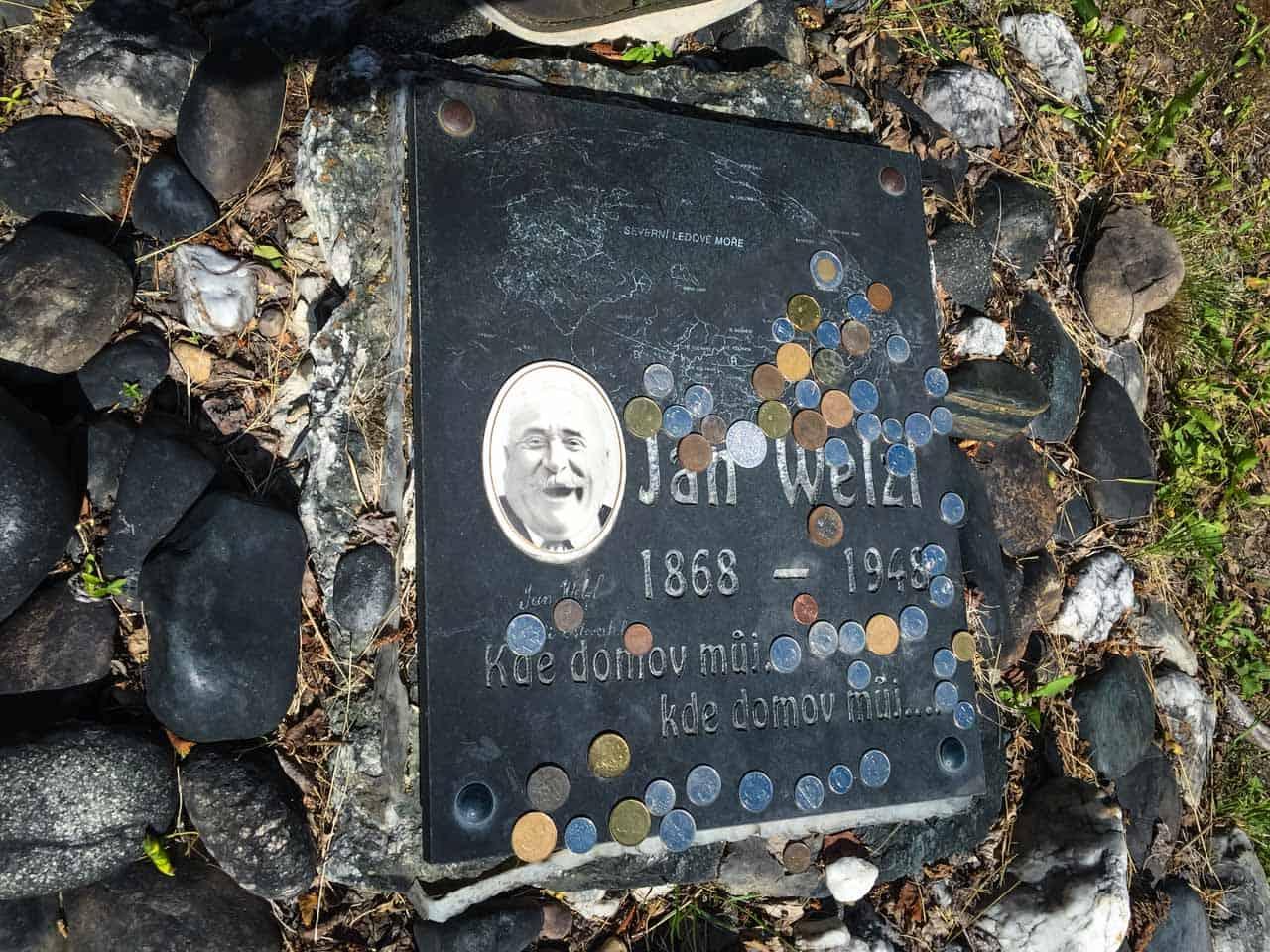 gold rush cemetery dawson city grave of Jan Wetzl