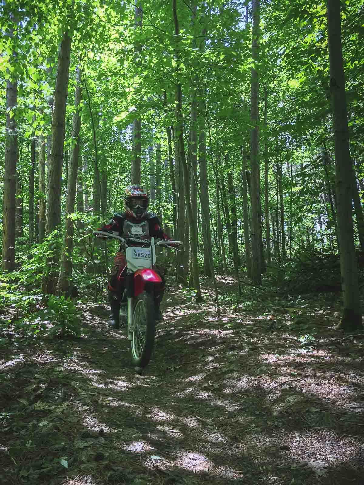 ganaraska forest trail tours dirt biking