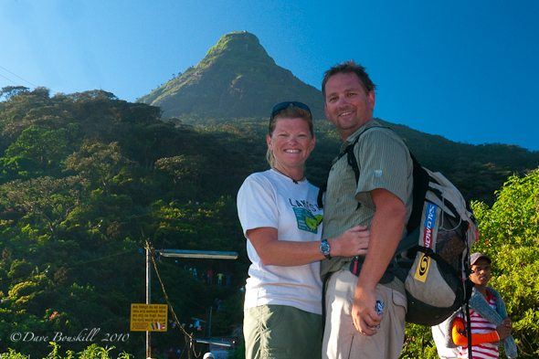 dave and deb at adams peak