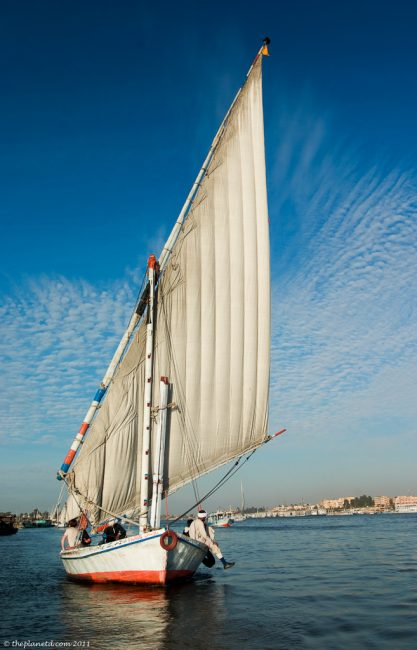 Egypt-Felucca-Luxour