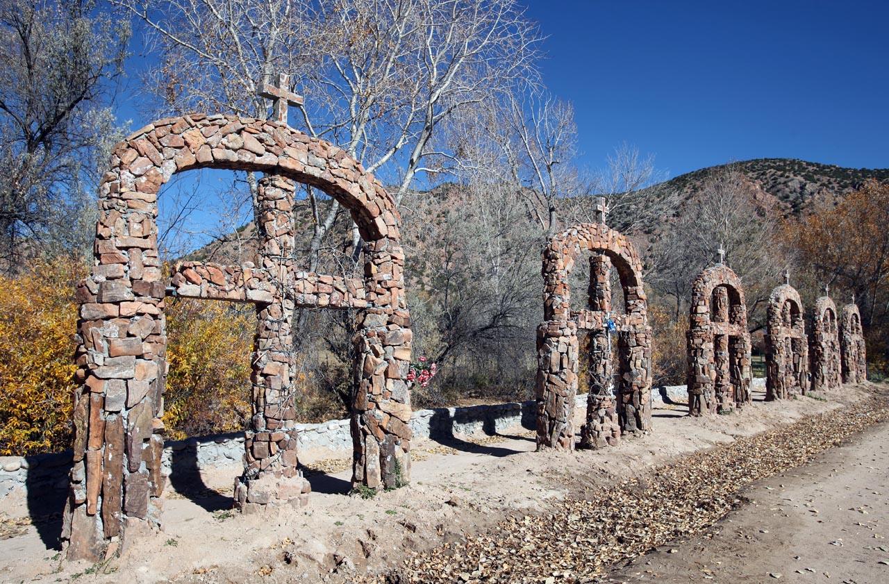 visit El Santuario de Chimayo, New Mexico