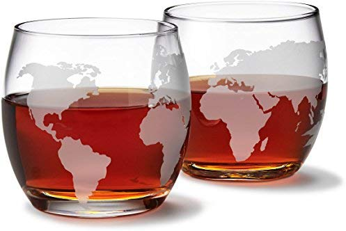 Etched Whiskey Glasses Luxury Gifts for Travelers