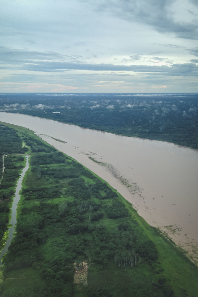 Width of the Amazon River