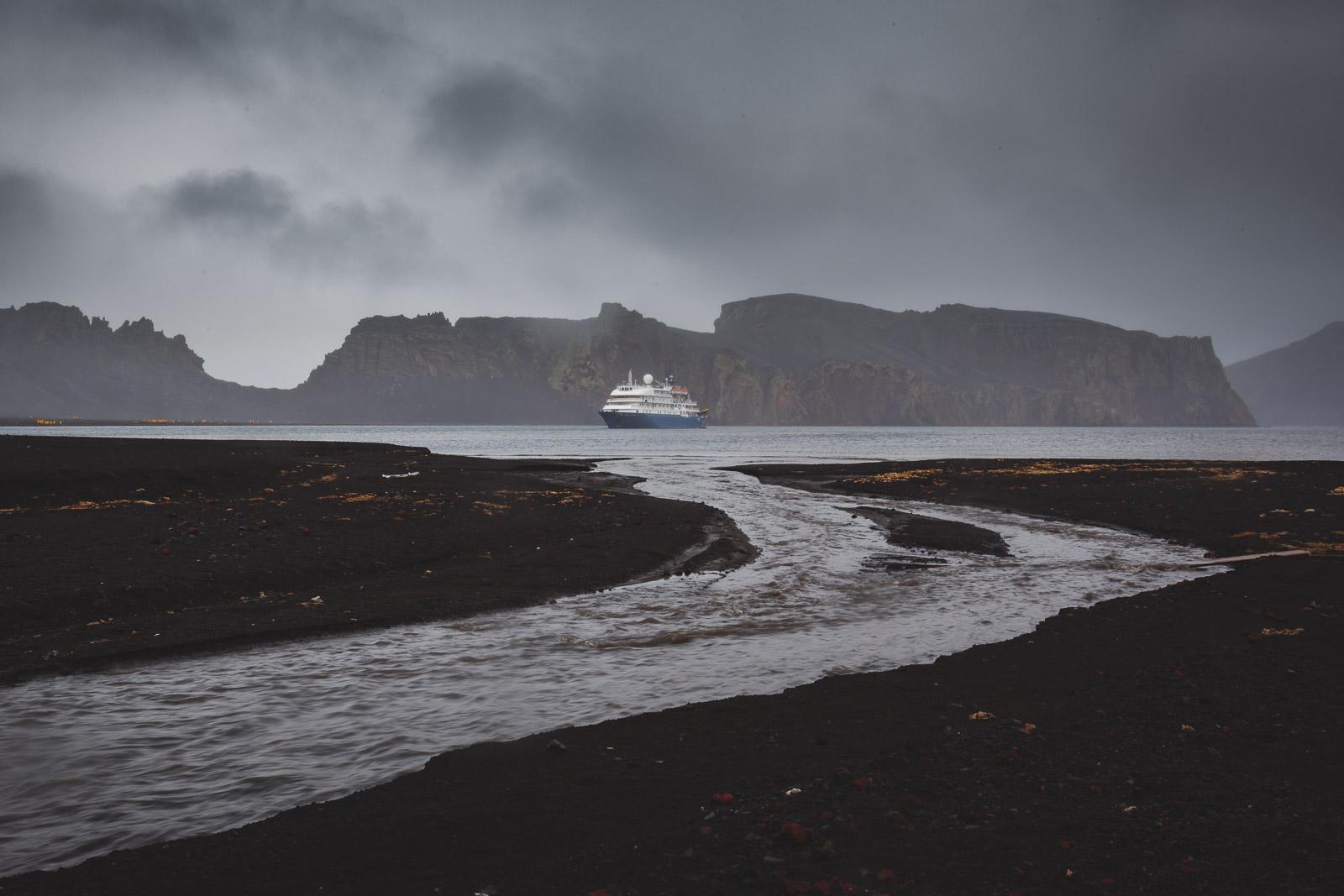 Deception Island Active Volcano Antarctica