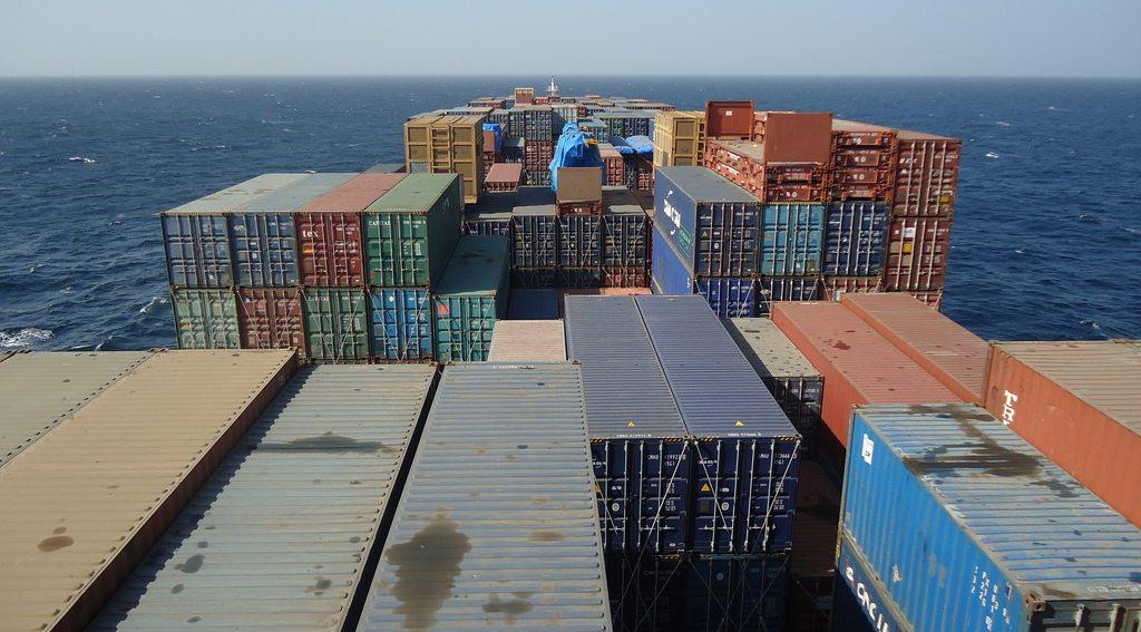 exterior cargo ship on deck