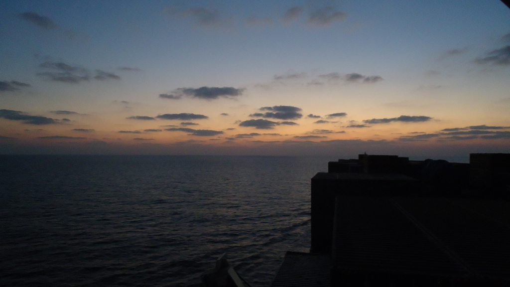 Sunset from Cargo Ship