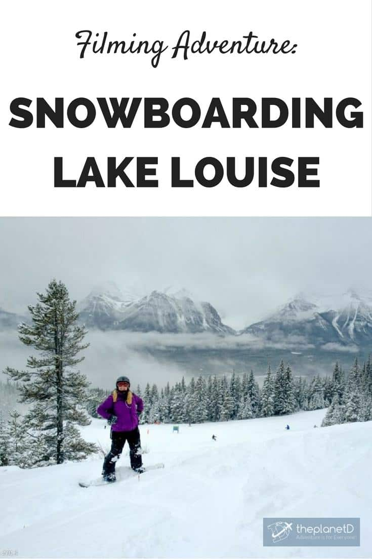 Can you believe we've never been snowboarding in Lake Louise? Well our first time was amazing. Great conditions and powder to boot. Plus we had a film crew capturing every moment!