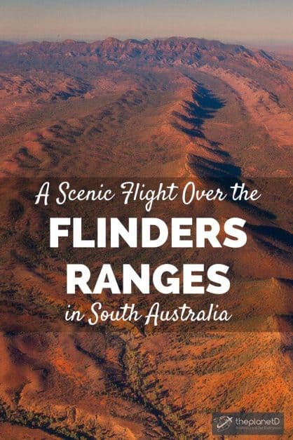 Witnessing Wilpena Pound of the Flinders Ranges in South Australia is one of the best scenic flights