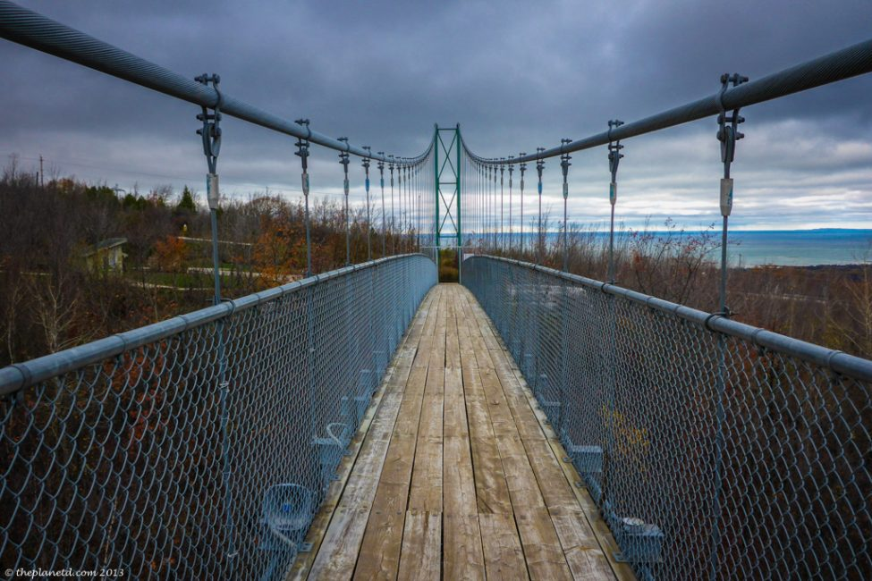 First up, the suspension bridge!
