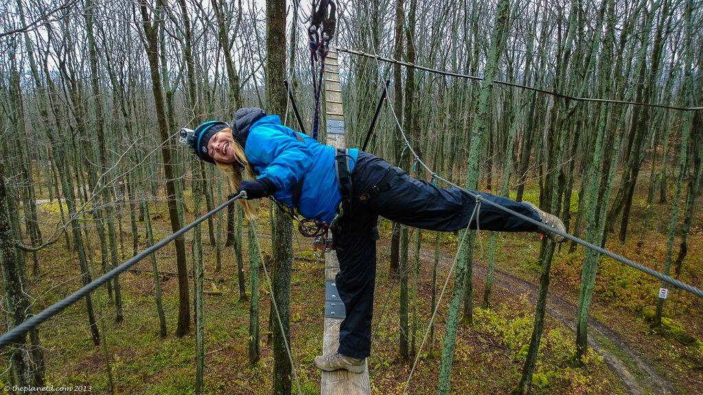 Deb tackles the high ropes!