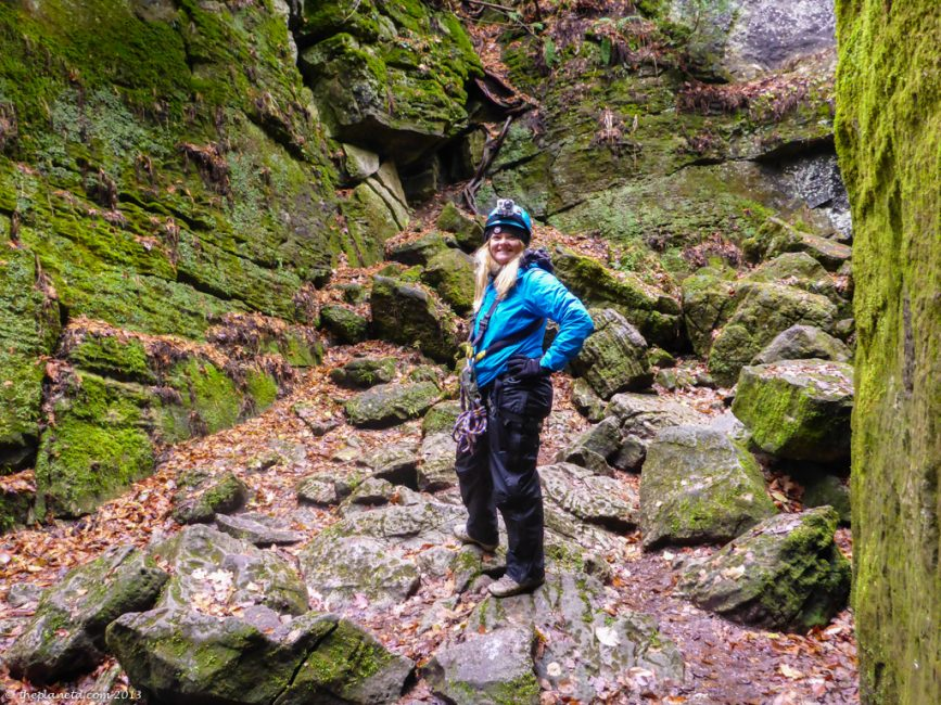 Hiking through the scenic caves in Blue Mountain