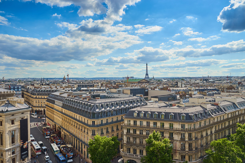 Galeries LaFayette free view of Paris