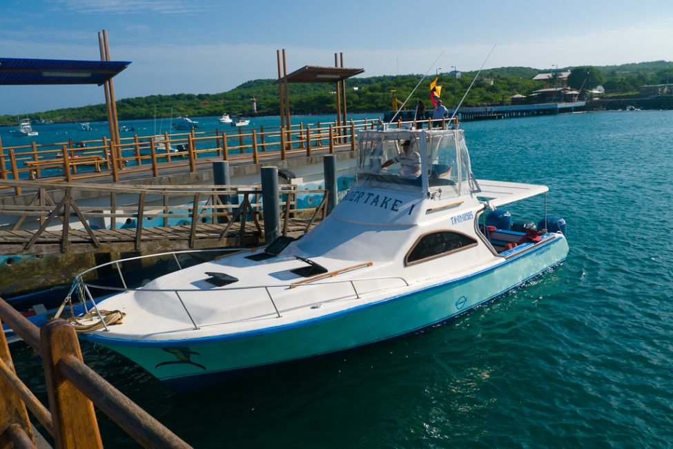 boat in Galapagos Islands