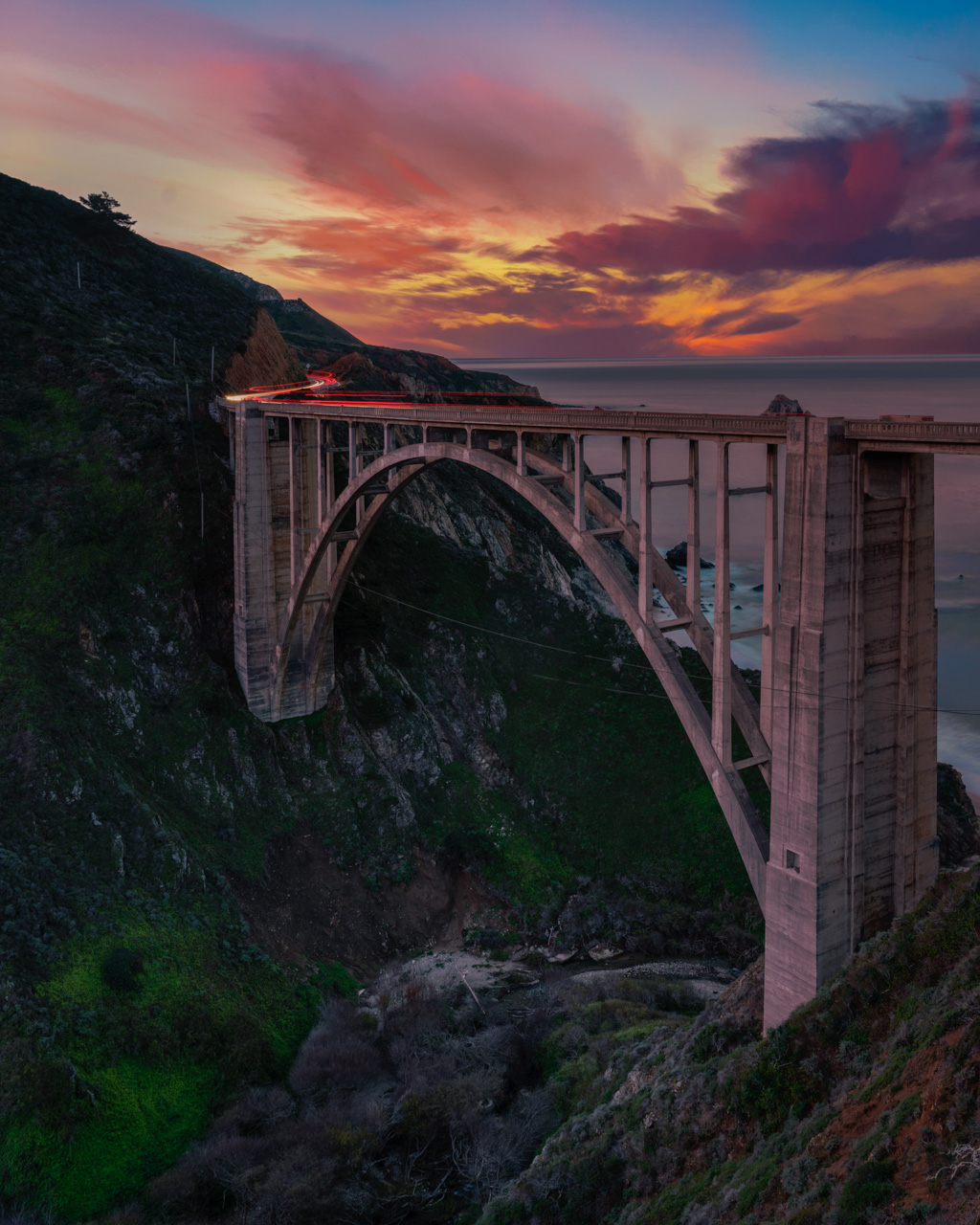 Glamping in Big Sur on Highway 1 bixby bridge