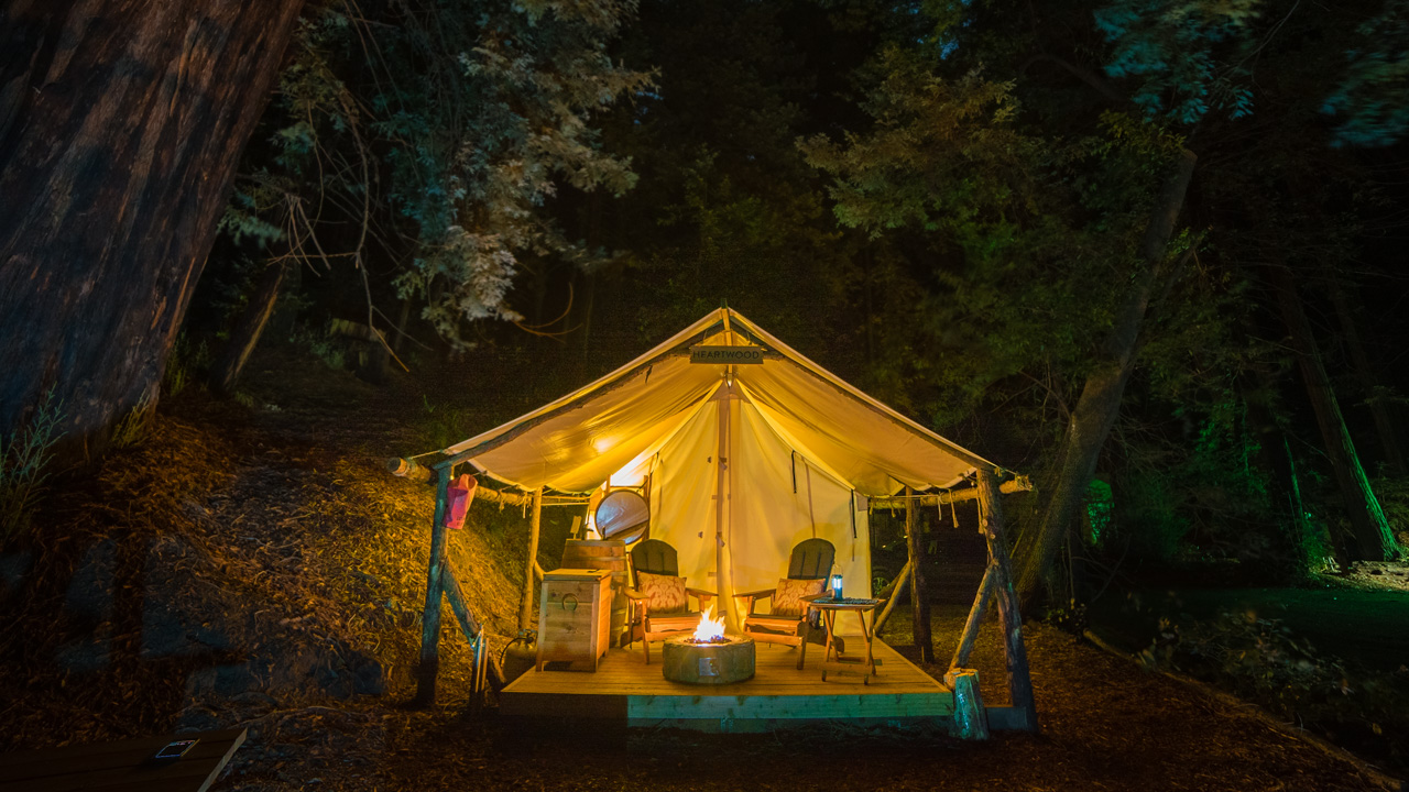 Basking in the beauty of the Redwoods while Glamping in Big Sur, California