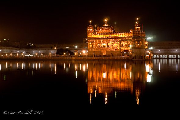 Night Time at the Golden Temple of Amritsar