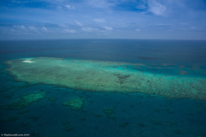 The Beauty of the Great Barrier Reef from above