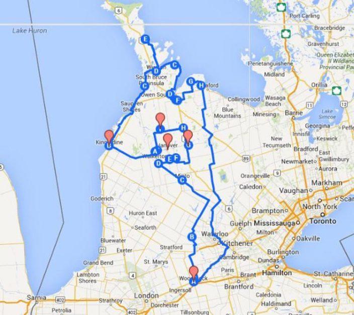 great bruce motorcycle loop | ontario best motorcycle routes